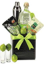 tequila gift basket a bottle of patrón silver tequila fresh limes margarita mix a shaker and nuts gifts gift baskets gifts wine gift baskets