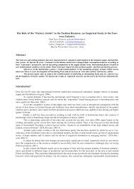 """(PDF) The Role of the """"<b>Factory Outlet</b>"""" in the <b>Fashion Business</b>: an ..."""