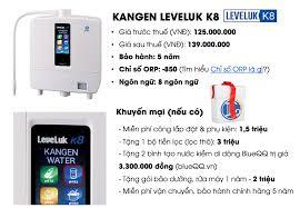 Tiết lộ giá thực cho câu hỏi máy lọc nước kangen bao nhiêu tiền?
