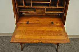 antique secretary desk oak drop front