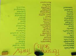 job traits and skills sfx o job traits and skills
