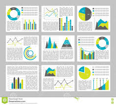 Different Types Of Graphs And Charts Graphs Flat Concept Stock Vector Illustration Of Data