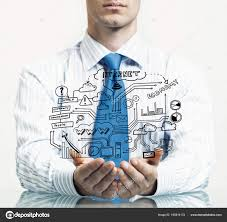 Businessman Presenting Business Plan Stock Photo Khakimullin
