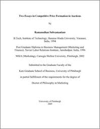 two essays in competitive price formation in auctions   d    two essays in competitive price formation in auctions