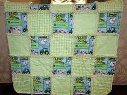 handmade baby john deere rag quilt by pickspatches on s john deere quilt cover