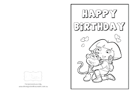 Coloring Birthday Cards Printable Coloring Birthday Cards Free
