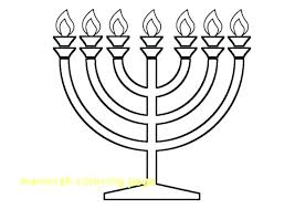 Menorah Coloring Pages Menorah Coloring Page Free Printable Pages