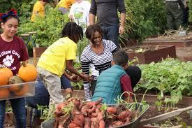 Michelle Obama Kitchen Garden Students Harvest White House Garden With The First Lady Scripps