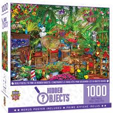 It is because our brains encourage the production of dopamine, a brain chemical that activates happiness when we play. Masterpieces Seek Find Garden Hideaway 1000 Piece Jigsaw Puzzle Walmart Com Walmart Com