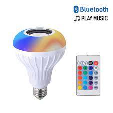 Satın Al Uzaktan 24 Keys Kumanda Ile E27 Akıllı LED Işık RGB Kablosuz  Bluetooth Hoparlör Ampul Lamba Müzik Çalma Dim Müzik Çalar Ses, TL64.12