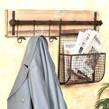 rustic coat tree c coat hanger entryway wall rack with storage on wood wall coat rack