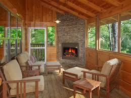 screened in porch with fireplace. 4 Bedroom Cabin With Screened In Porch And - Vrbo Within Outdoor Fireplace H