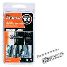 toggle lock 100 lb pan head philips heavy duty self drilling