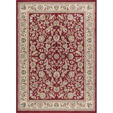 8 x 10 large ivory gold and red area rug laa rc willey furniture