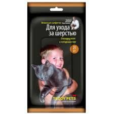 Отзывы о <b>Влажные салфетки</b> для ухода за шерстью Teddy Pets
