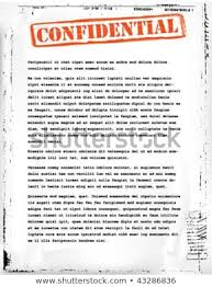 Confidential Document Template Stock Vector Royalty Free 43286836