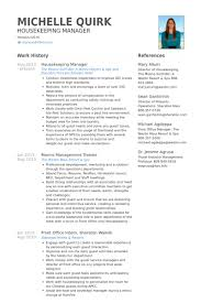 housekeeping resume templates housekeeping resume samples visualcv resume samples database