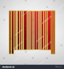 Bar Code Sign Vector Red Icon Stock Vector Royalty Free