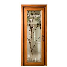 china villa interior wood aluminum glass design door
