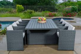 11piece outdoor rattan wicker patio