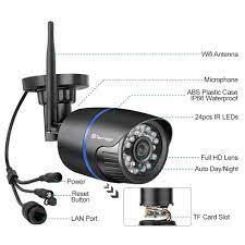 Satın almak online Techage 2MP kablosuz IP kamera 1080P açık su geçirmez  WiFi güvenlik kamerası ses kayıt P2P Video CCTV gözetim kamera \ Video  İzleme