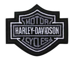 amazon com harley davidson silver bar shield patch xs 3 x 2 1