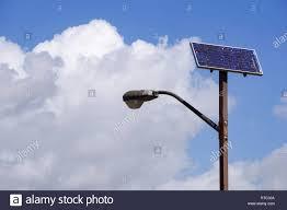 Solar Powered Street Light Pole California Stock Photo