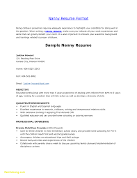 Examples Of Nanny Resumes Delectable Resume Examples For Nannies Free Download Examples Nanny Resumes