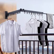 folding clothes hanger wall mounted