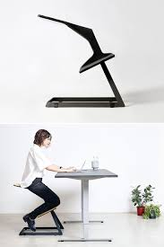 this ergonomic chair with unique geometry keeps your back straight while you are working and improves