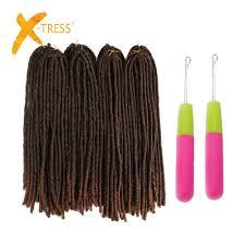 X Tress 20inch Soft Dreadlocks Crochet Braids Kanekalon