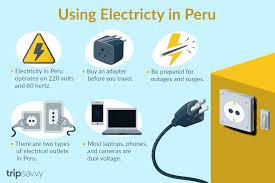 using electricity in peru