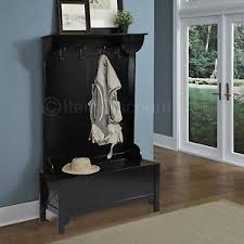 Entry Hall Bench Coat Rack Wood Entryway Mudroom Hall Tree Shoe Storage Bench Hat Coat Rack 85