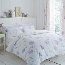 charlotte thomas kendall flower print duvet cover set lilac