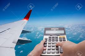 Travel Cost Calculator Travel Cost Calculation Concept By Calculator And Airplane In