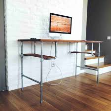 s steel pipe desk legs square coffee table diy pallet standup with my diyus pallet