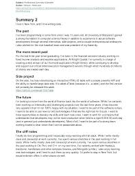 Resume Professional Summary Amazing What To Write In Professional Summary On Resume Wwwnyustrausorg