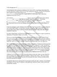 Demand Letter California Tenants Leasehold Estate Receipt