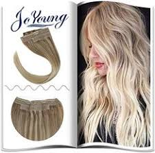 Best Seller JoYoung 14inch Balayage Hair Halo Extensions Remy ...