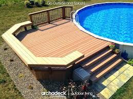 Above Ground Pool Decks Plans Best Ideas On