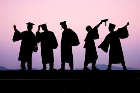 programs that promise jobs for grads remind us that a degree isn t silhouettes of five young men in caps and gowns