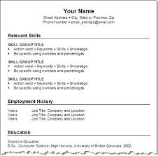Relevant Skills Resume Resume Examples Your Name Relevant Skills