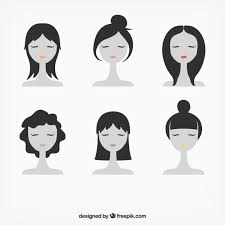 Female Faces Illustration Free Vector جرافيكس العرب Indian Vector