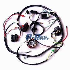 buggy wiring harness loom gy6 engine 150cc quad atv electric start stator 8 coil go kart kandi go kart dazon