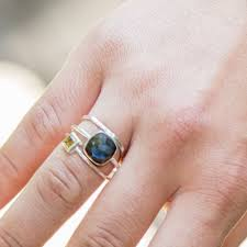 Silver Stone Ring Designs Ring Silver Small Stone Labradorite Silver Ring