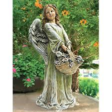 child garden statues joy the flower angel statue mother and baby garden statue