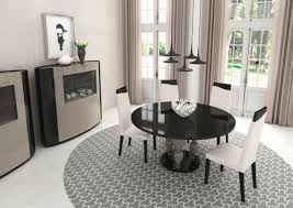 imperador modern round glass dining table 17 colour options