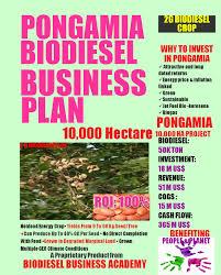 pongamia biodiesel business plan pongamiabiodieselbusinessplan