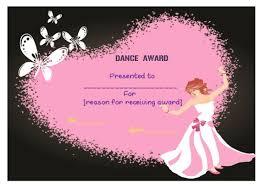 Dance Award Certificate Dance Certificate Template 26 Free Certificates For Dance