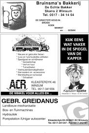 Bruinsma S Bakkerij De Echte Bakker Skans 2 Winsum Tel Pdf